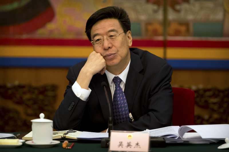 20193月中國兩會,西藏自治黨委書記吳英傑(AP)