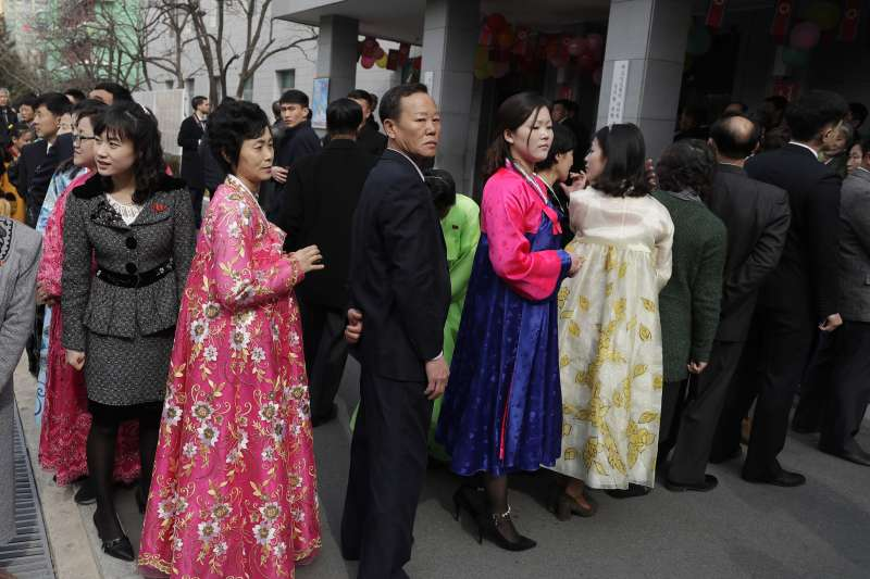 2019年月10日,北韓(朝鮮)舉行第14屆「最高人民會議」代議員選舉(AP)