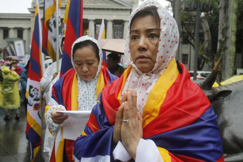 2019年3月10日,台灣「310西藏抗暴日60週年大遊行」(AP)