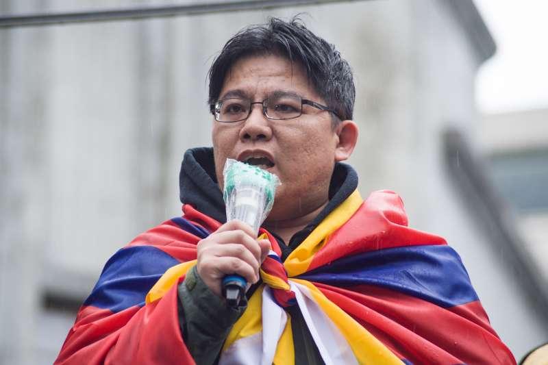 20190310-310西藏抗暴日60周年大遊行,時代力量黨主席邱顯智。(甘岱民攝)