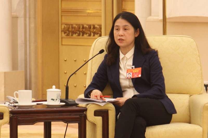 籍貫台南的中國人大台灣省代表許沛建議送四川熊貓給高雄市壽山動物園。(張家豪攝)