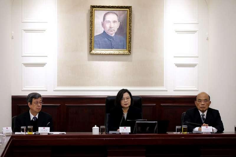 總統蔡英文召開國家安全會議,確立中國「一國兩制台灣方案」因應方針與機制。(總統府提供)
