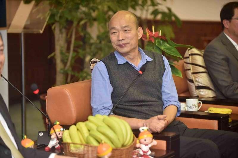 高雄市長韓國瑜(見圖)表示,因感受到謝汀嵩輕忽市政會議重要性才發脾氣,「感覺他像在夏威夷海灘度假,不是在開市政會議」。(資料照,高雄市政府提供)