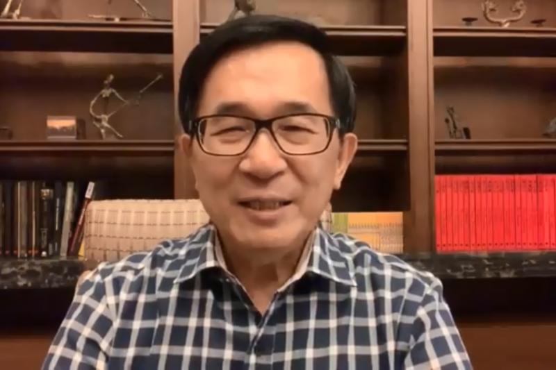 前總統陳水扁近日常在「新勇哥物語」評論時事。(資料照,取自YonGe Chen臉書)