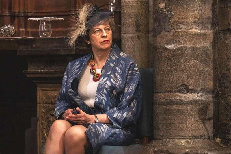 英國首相梅伊出席英聯邦日活動。(美聯社)