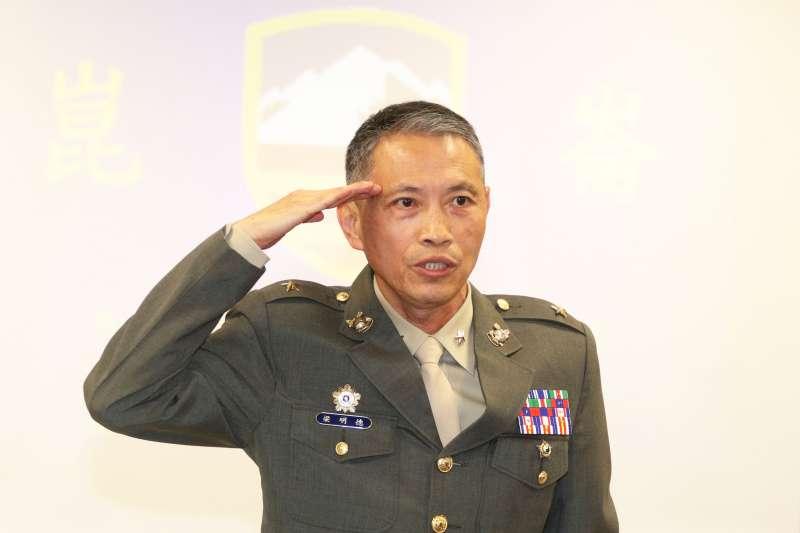 20190312-國防部例行記者會。海軍副參謀長梁明德少將。(蘇仲泓攝)