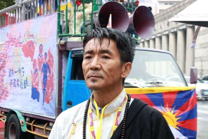 西藏台灣人權連線理事長札西慈仁(Tashi Tsering)。(翻攝西藏台灣人權連線臉書)