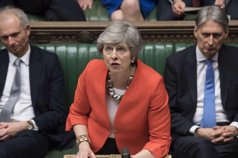 2019年3月12日,英國首相梅伊(Theresa May)將最新版的《退出協議》送交國會下議院進行表決,結果慘敗(AP)