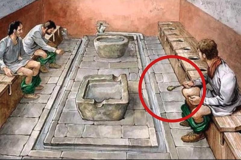 上完廁所後,總會抽幾張衛生紙擦屁股進行清潔,但你有想過,衛生紙還沒被發明之前,古人都用什麼東西來擦屁股嗎?(圖/取自youtube)