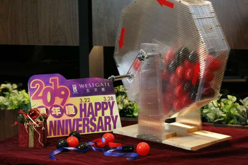 今年永安棧周年慶推出轉轉樂透機,邀請入住的房客一起慶生,轉出好禮!(圖/永安棧)