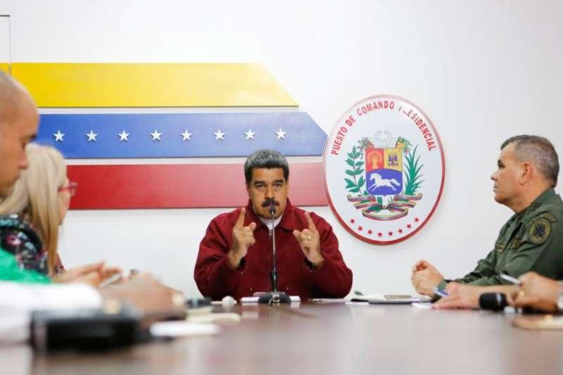 委內瑞拉總統馬杜羅2019年3月12日指責美國發動網路攻擊。(委內瑞拉總統府照片)