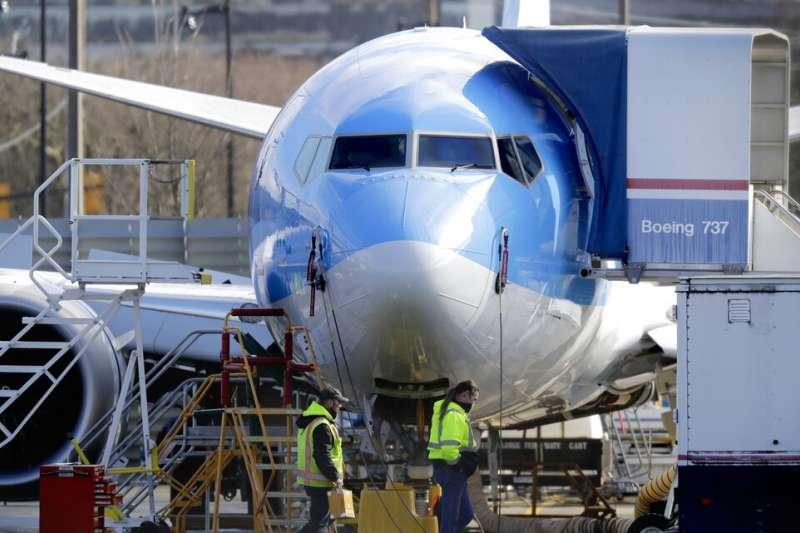 波音737 MAX 8客機。(美聯社)