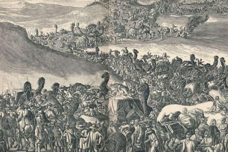 曼薩穆薩一世帶著龐大的隊伍穿過大沙漠前往麥加朝聖。(BBC)