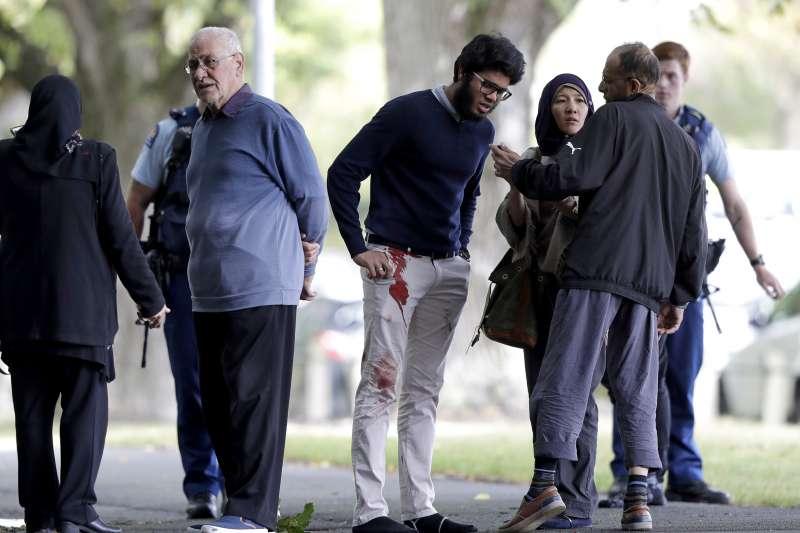 2019年3月15日,紐西蘭「基督城」兩座清真寺發生恐怖攻擊,導致慘重傷亡。(AP)