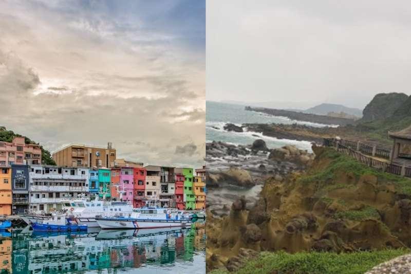 正濱漁港(左)、和平島公園(右)。(女子學提供)