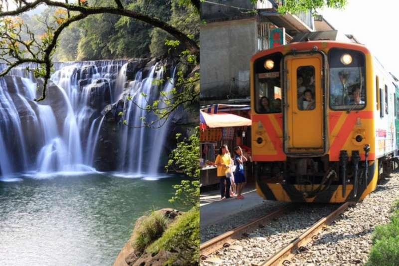 十分瀑布(左)、平溪老街(右)。(女子學提供)