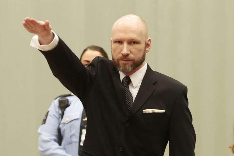 挪威極右派「孤狼」、背負77條人命的恐怖分子布雷維克。(美聯社)