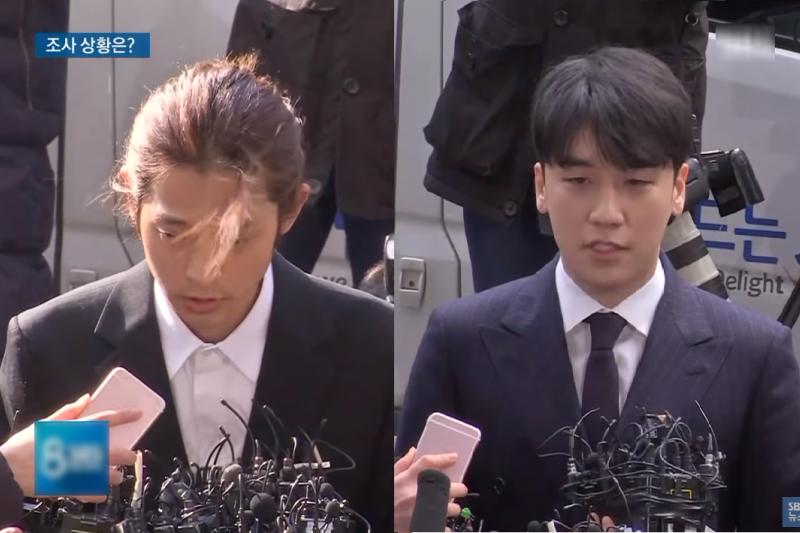 Bigbang前成員勝利涉嫌性招待、歌手鄭俊英偷拍而遭全民撻伐,沒想到他們的對話群組爆出一連穿的案外案......(圖/取自youtube)