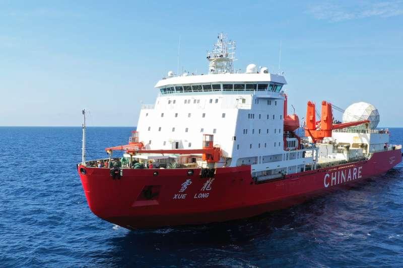 與冰山發生碰撞後修復一新的「雪龍號」(新華社)