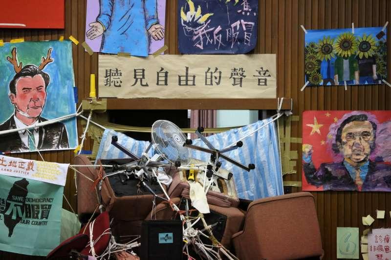 20140404-SMG0019-301-學生佔領立法院第18天,場內外學生情況。(余志偉攝)318學運、太陽花學運