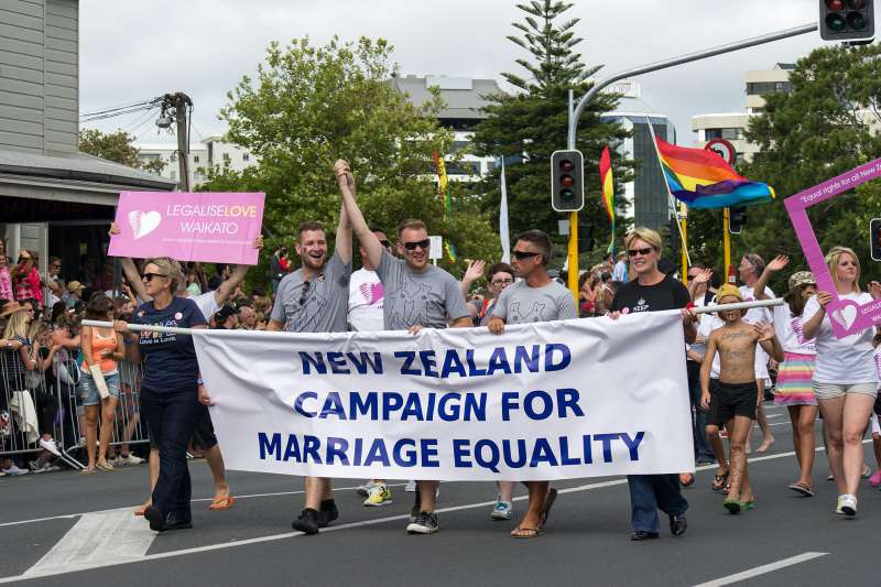 紐西蘭婚姻平權運動(Kiran Foster@Wikipedia / CC BY 2.0)