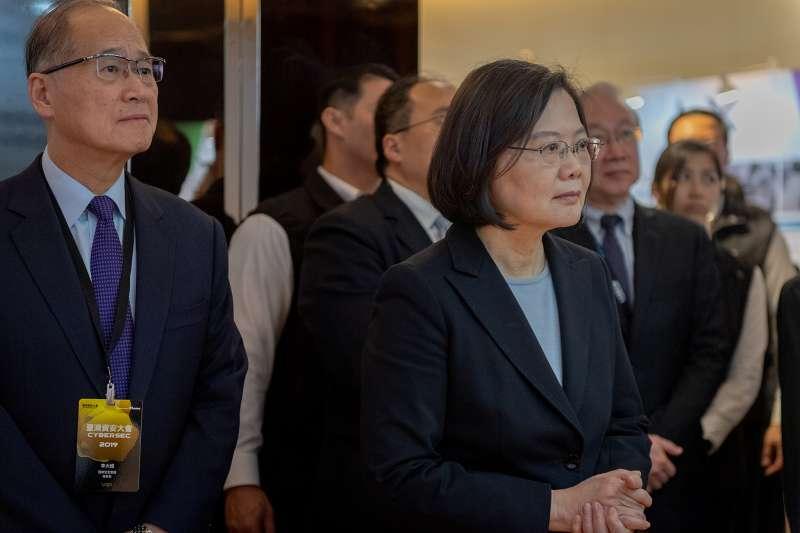 20190319-總統蔡英文19日出席台灣資安大會開幕典禮。(總統府提供)