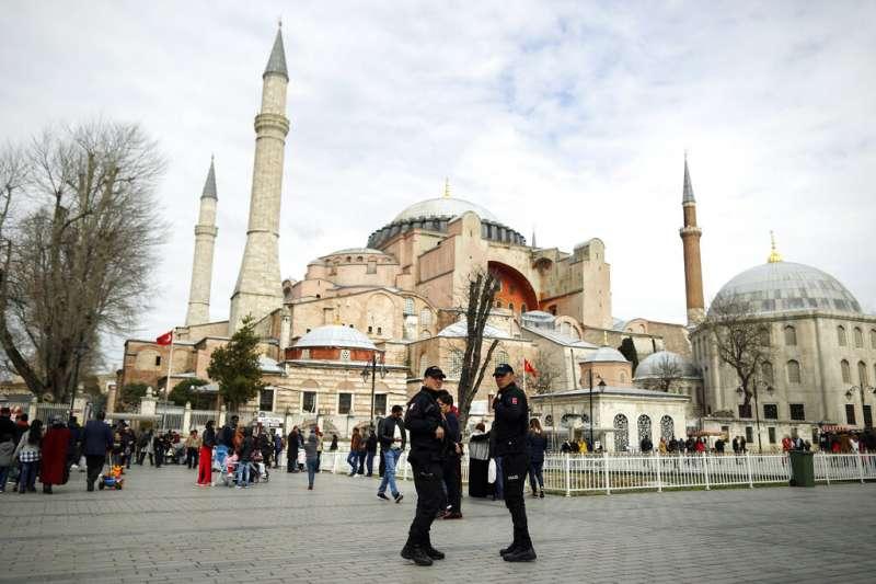 土耳其聖索菲亞大教堂。(AP)