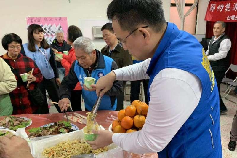 20190319-台灣創新法律協會理事長簡榮宗投入2020年汐止區立委選舉。 他的選區有144個里,目前已跑了超過一半。(取自簡榮宗臉書)