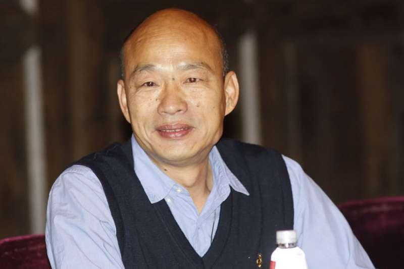 韓國瑜今指出,在北農期間的個案完全與茶農無關,是經銷商也許一時疏忽、品管不良,供貨和試喝品質不一,造成退貨影響商譽。(資料照,郭晉瑋攝)