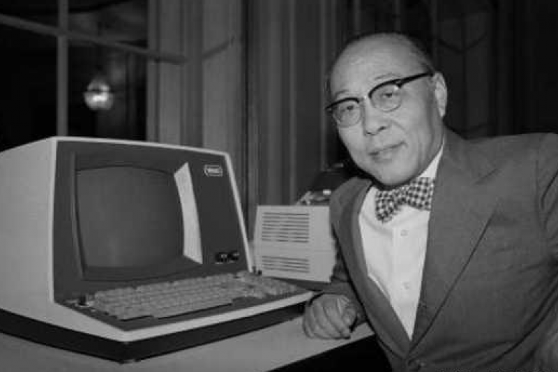 微軟創辦人比爾.蓋茲(Bill Gates)曾說,倘若王安能意識到相容軟體應用重要性,這世上可能就不會有微軟。王安電腦創辦人王安。(取自網路)
