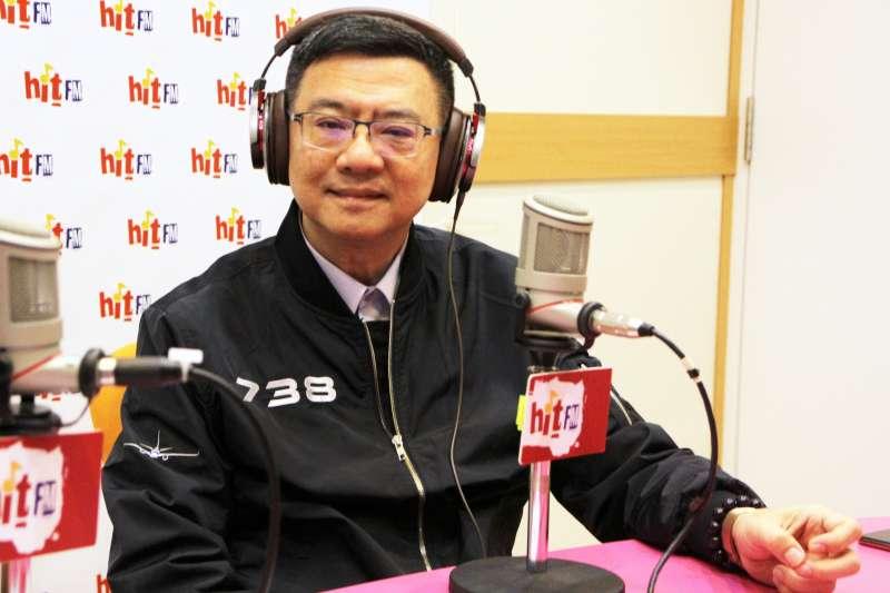 20190320-民進黨主席卓榮泰20日接受廣播節目專訪。「Hit Fm《周玉蔻嗆新聞》製作單位提供」