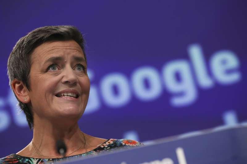 堪稱「Google殺手」的歐盟執委會(EU Commission)商業競爭事務專員維斯塔格(Margrethe Vestager)(AP)