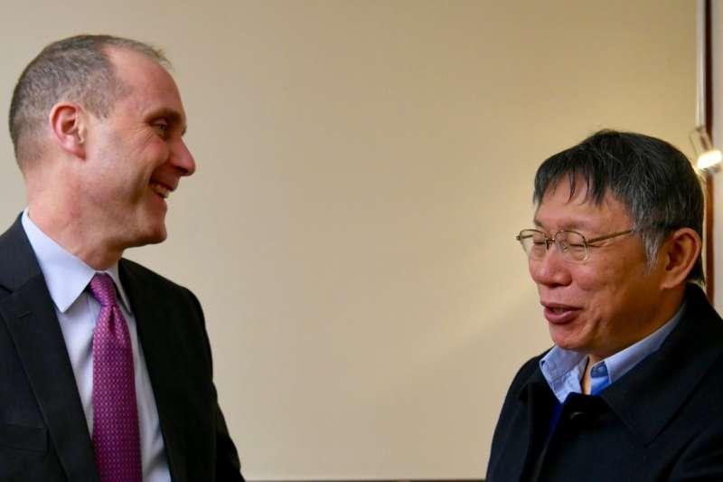 台北市長柯文哲訪美第4天,前往美國國務院與代理副助卿史墨客(Hanscom Smith)會晤。(取自EAP Bureau@twitter)