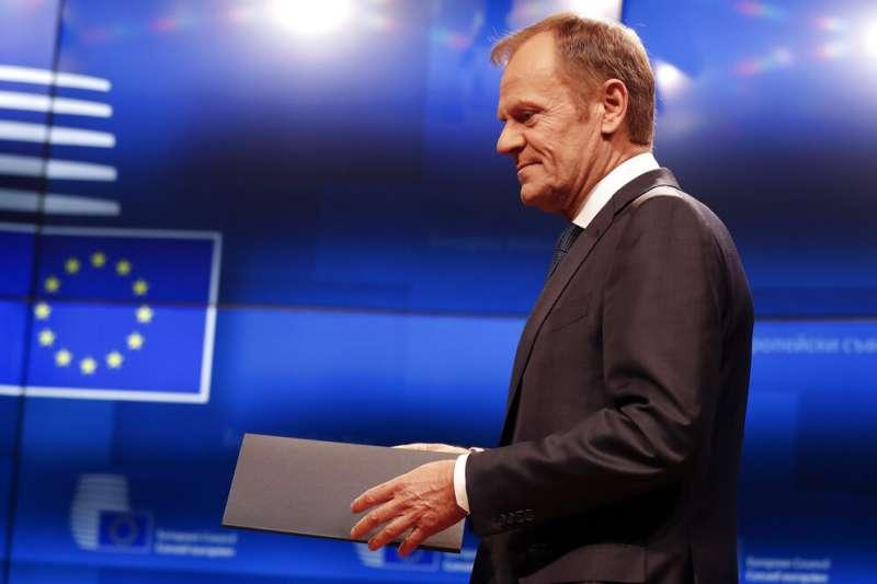 """作者認為,歐洲理事會主席圖斯克(見圖)以""""突破""""來解讀歐中峰會有些一廂情願,實際上聲明中有約束力的內容非常有限。(資料照,AP)"""