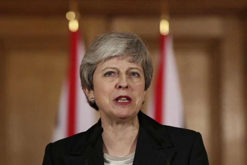 2019年3月20日,英國首相梅伊表示,她打算把脫歐期限延至6月30日。(AP)