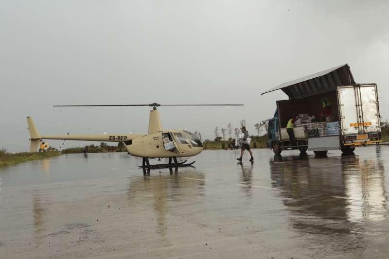 進行救援任務的直升機。(AP)