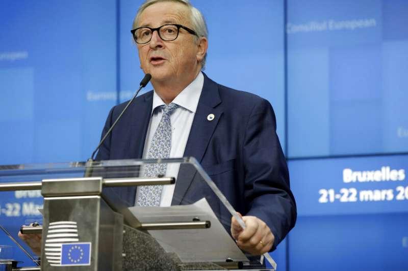 歐盟執委會主席容克。(美聯社)