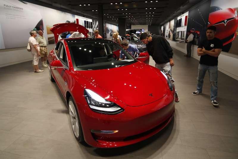美國電動車公司特斯拉(Tesla)(AP)