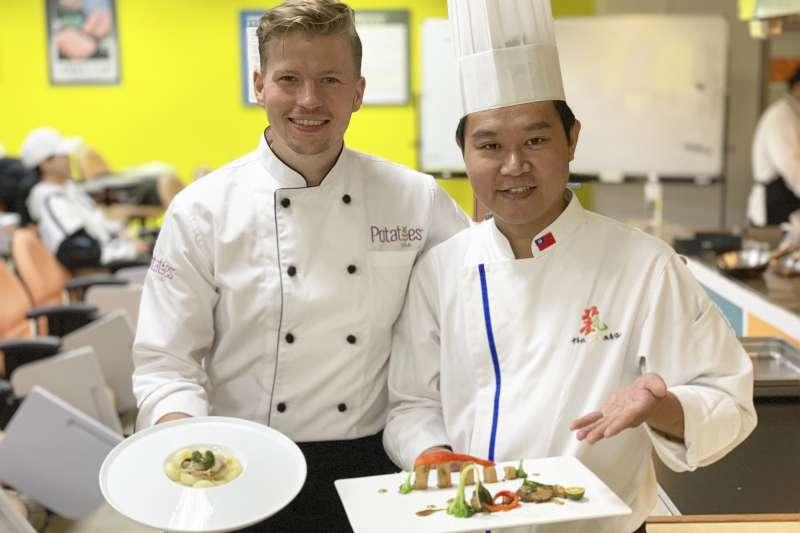 台波美食外交:台灣名廚溫國智和波蘭名廚皮歐西克(簡恒宇)