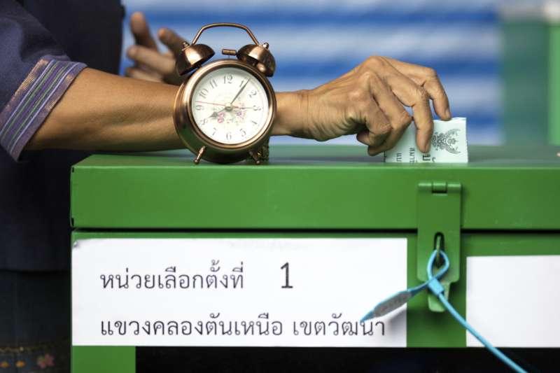 2019年3月24日,泰國眾議院選舉投票登場(AP)