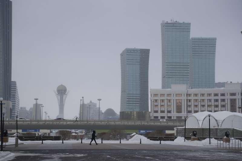 中亞大國哈薩克首都阿斯塔納。(AP)