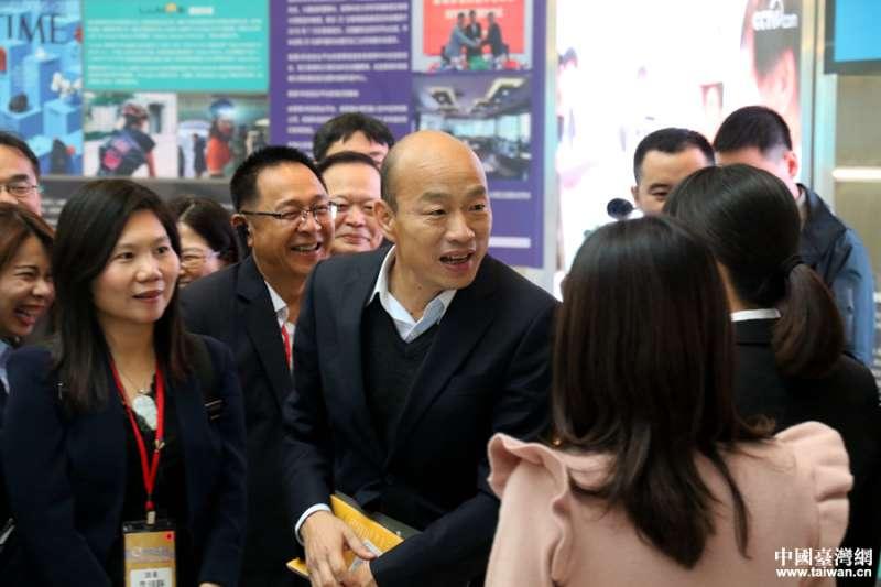 韓國瑜出訪不談政治,但背後真的沒有「政治」嗎?(中國台灣網)