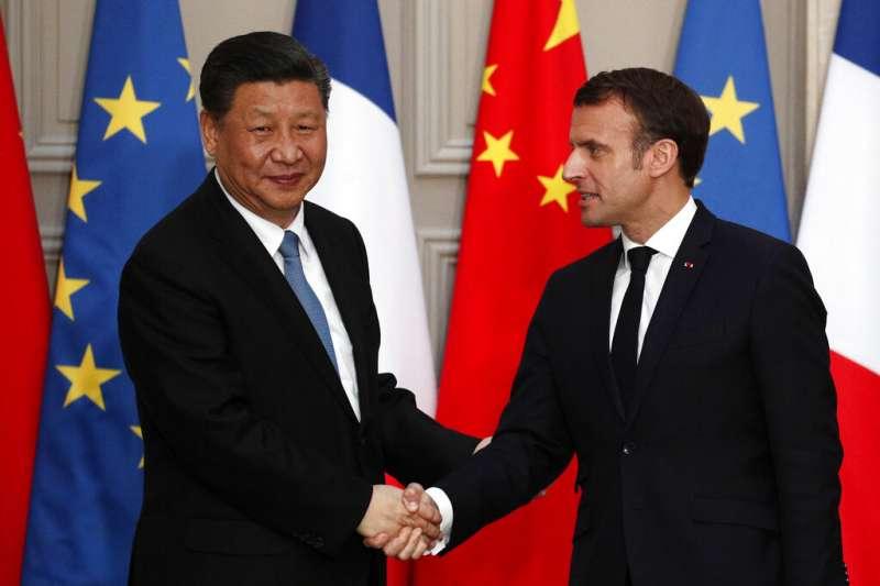法國與中國有多項交流合作。(美聯社)
