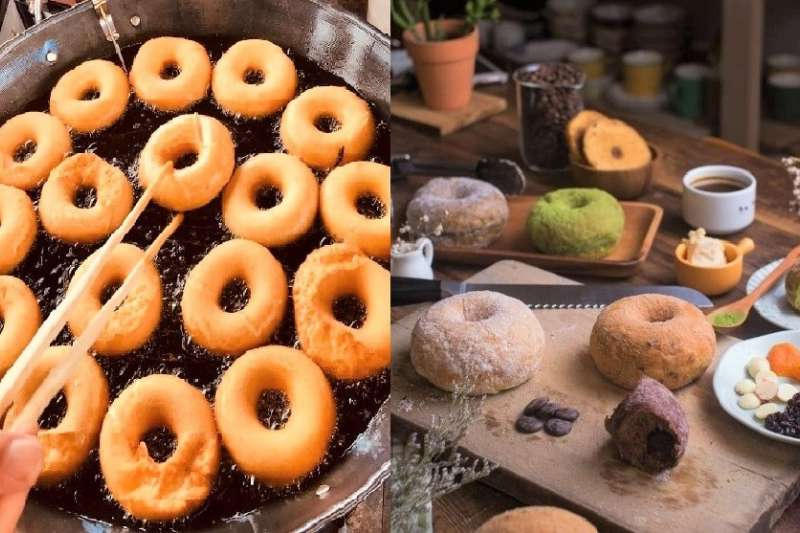 甜甜圈雖然材料簡單,卻是全世界人人都愛的甜點首選!(圖/原住民小米甜甜圈-米沙路娃娃@facebook、Haritts Taipei@facebook)