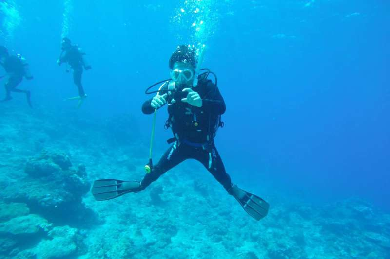 20190326-具有潛水專業的學子加入大學儲備軍官團,未來進入海軍水下作業大隊服務,能夠專業與興趣相結合,接受更高強度的挑戰。(資料照,高雄大學教官賴祥慶中校提供)