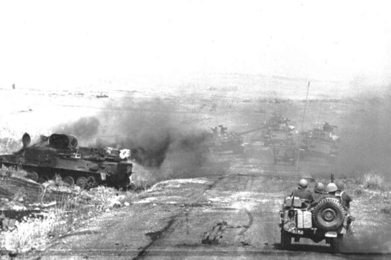 1967年「六日戰爭」以色列攻佔戈蘭高地。(AP)