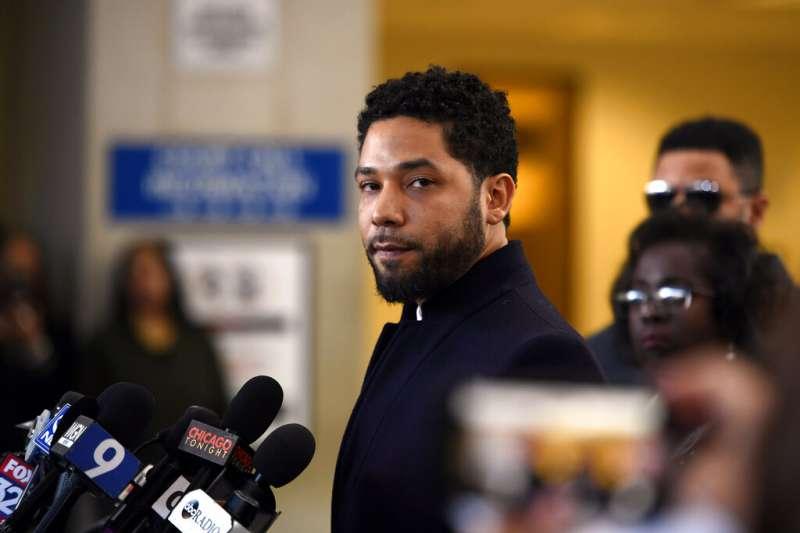 當紅美劇《嘻哈世家》黑人同志男星史莫雷特26日獲檢方撤銷起訴。(AP)