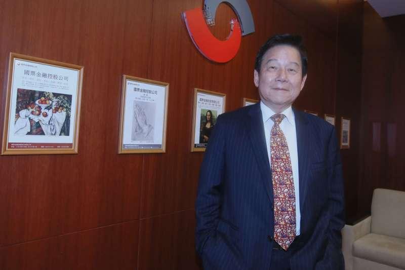 魏啟林說:「要做純網銀的構想,國票金是第一家。」(柯承惠攝)