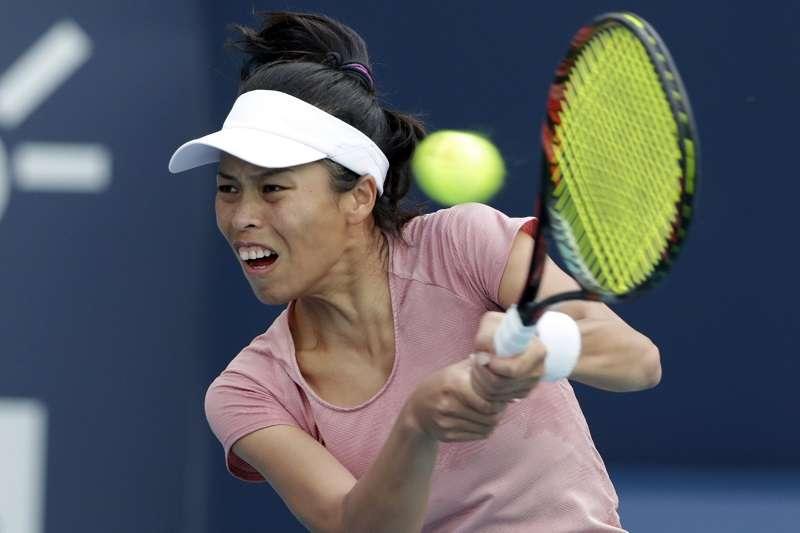 謝淑薇在中國公開賽女雙第二輪爆冷出局。 (美聯社)
