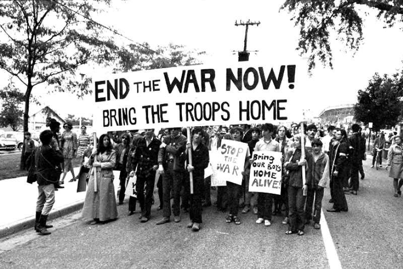 1969美國校園反戰運動。(取自Wystan@flikr)